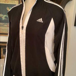 Vintage Adidas light black/white nylon jacket.